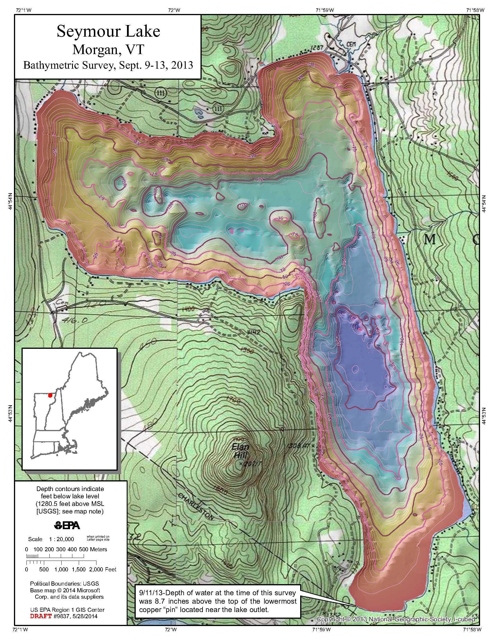 Seymour Lake Contours