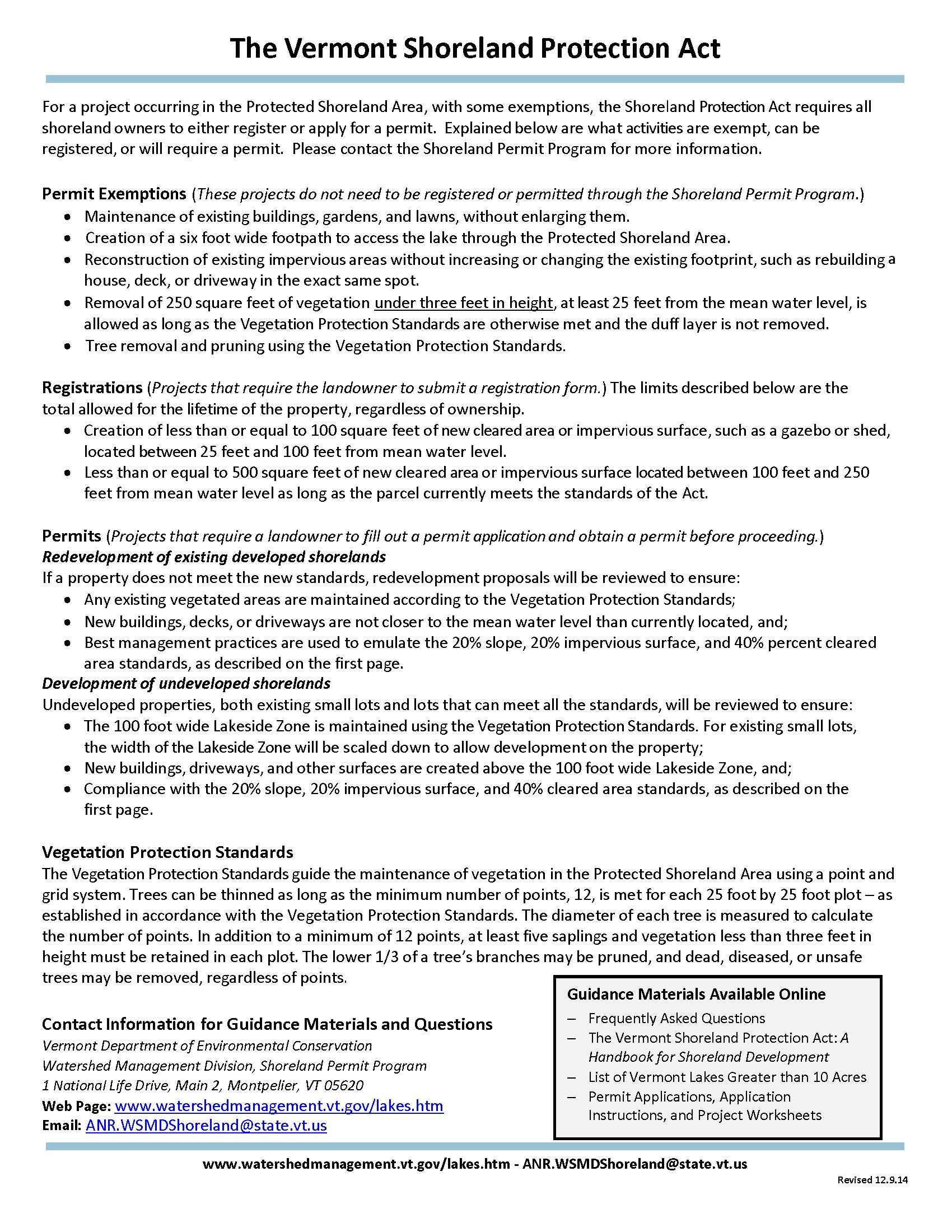 Vermont Shoreland Protection Act Summary_2
