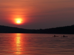 summer kayak ride at sunset by Candy Moot.JPG