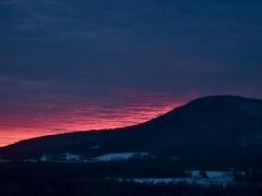 sunset over mtn