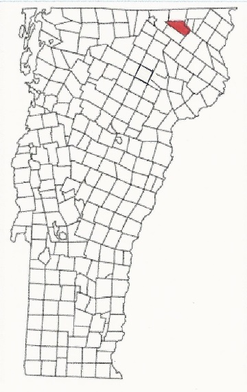 Location of Seymour Lake (Town of Morgan) in Vermont