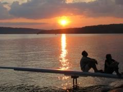 Sunset on Dock by Erik Lessing.JPG